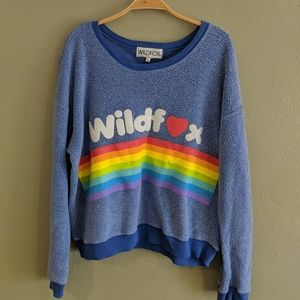 Wildfox Super Soft Rainbow Terry Sweatshirt